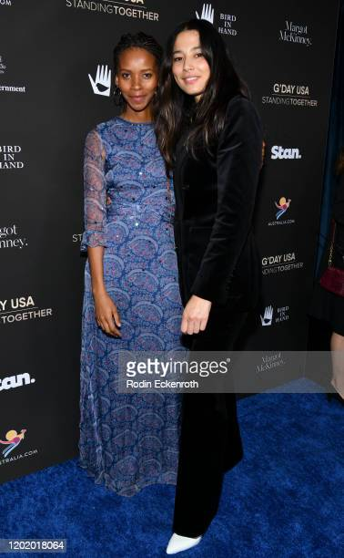 Vuyo Dyasi and Jessica Gomes attend G'Day USA 2020 | Standing Together Dinner at the Beverly Wilshire Four Seasons Hotel on January 25 2020 in...
