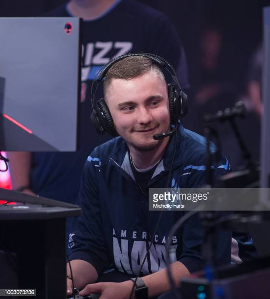 PHENOM vv of Grizz Gaming reacts during the game against Mavs Gaming on July 21 2018 at the NBA 2K Studio in Long Island City New York NOTE TO USER...