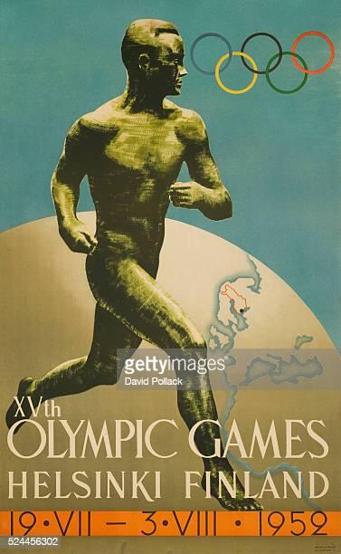 VXth Olympic Games Helsinki Finland Poster by Ilmari Sysimetsa