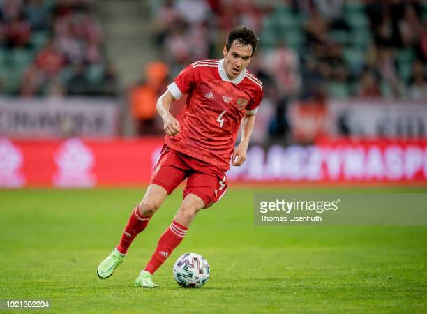 Vyacheslav Karavaev of Russia in action during the international friendly match between Poland and Russia at the Municipal Stadium on June 01, 2021...
