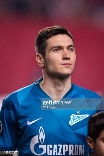 Vyacheslav Karavaev of Zenit St Petersburg looks on during the UEFA Champions League group G match between SL Benfica and Zenit St Petersburg at...