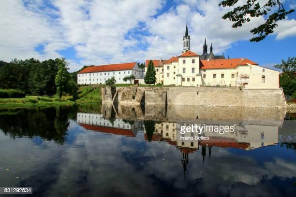 vyssi brod, a cistercian monastery, south bohemia, czech republic - frans sellies stockfoto's en -beelden