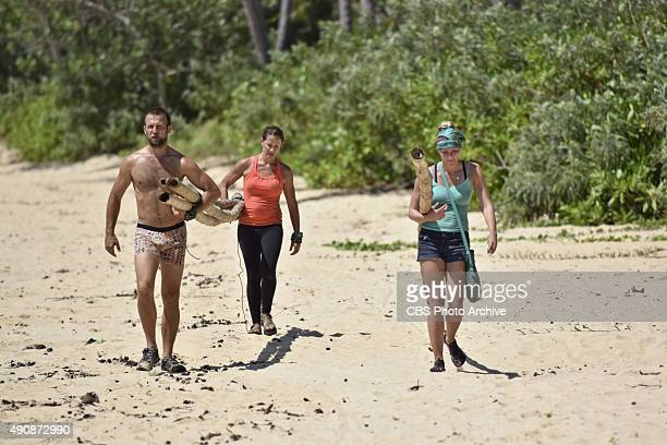 Vytas Baskauskas Kelly Wiglesworth and Kelley Wentworth during the special 90minute season premiere of SURVIVOR Wednesday Sept 23 The new season in...