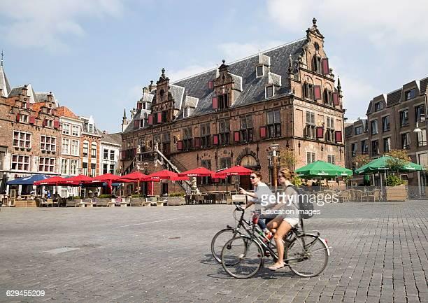 Waaghuis building from 1612, Grote Markt, Nijmegen, Gelderland, Netherlands.