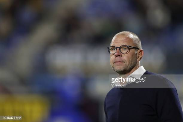 RKC Waalwijk coach Fred Grim during the First round Dutch Cup match between RKC Waalwijk and NAC Breda at the Mandemakers stadium on September 25...