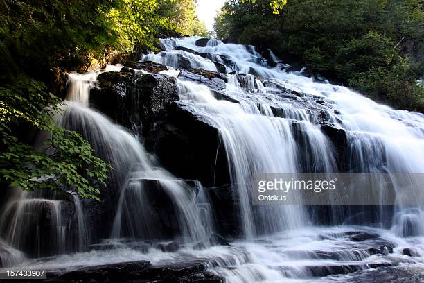 chute waber waterfall, parc de la mauricie, quebec, canada - national park stock pictures, royalty-free photos & images