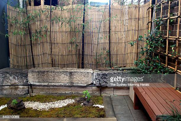 Wabi Sabi style garden in the courtyard of Yuga Cafe and Yuga Floral Design created by Setsuko Yanagisawa 20 April 2006 SMH DOMAIN Picture by DOMINO...
