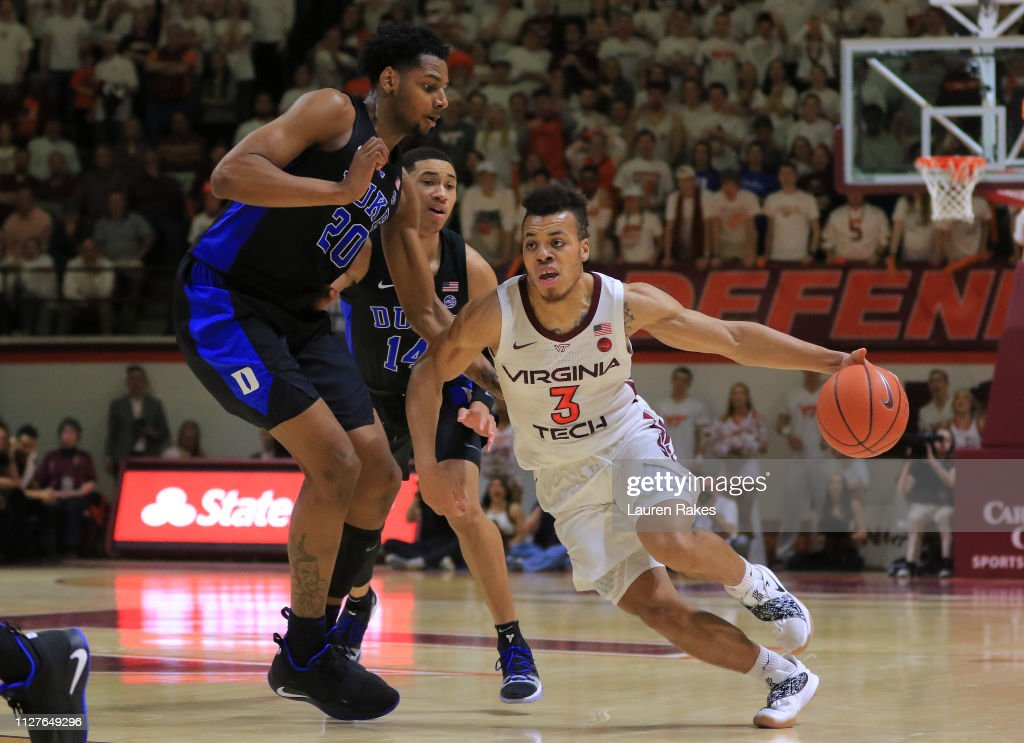 Duke  v Virginia Tech : News Photo