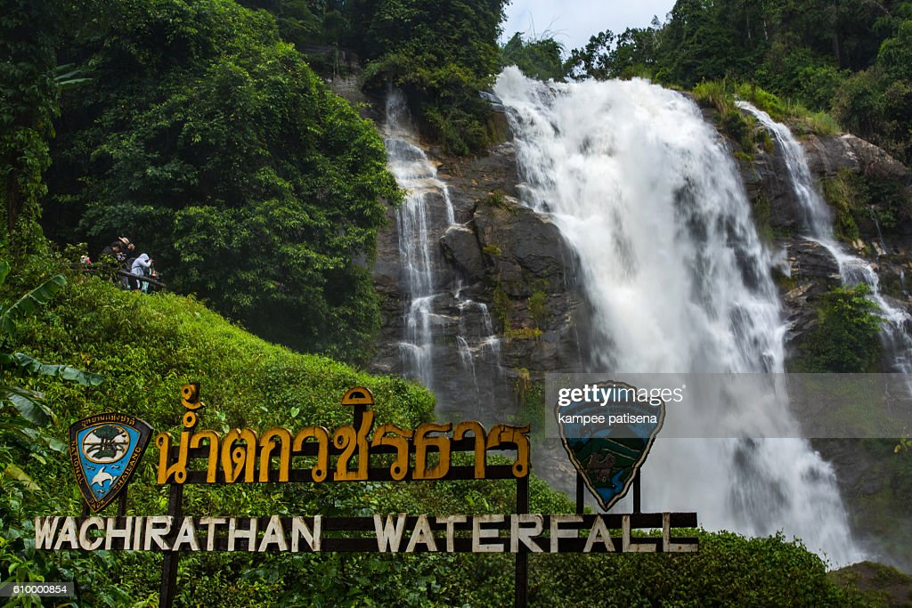 Wachirathan waterfall : waterfall in doi inthanon national park, Chiang mai,Thailand. : Stock Photo
