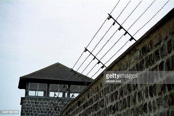 Wachturm und Aussenmauer des Konzentrationslager in Oberösterreich 1998