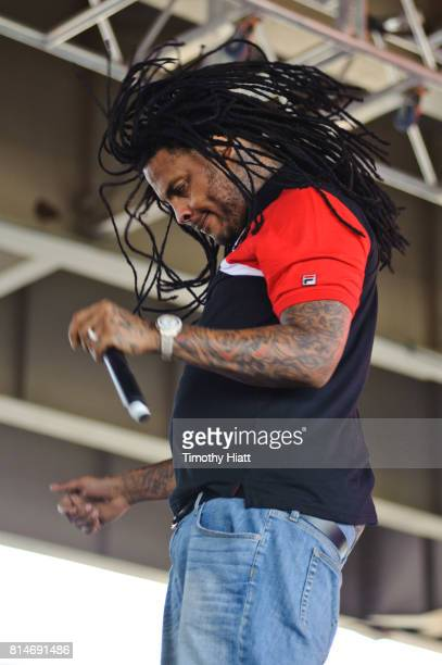 Wacka Flocka Flame performs on day one of the 2017 Forecastle Festival on July 14, 2017 in Louisville, Kentucky.