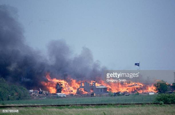 Waco, Texas: The Branch Davidian Compound Burns To The Ground.