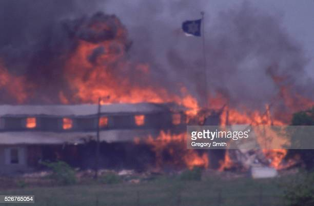 The Branch Davidian Compound Burns To The Ground