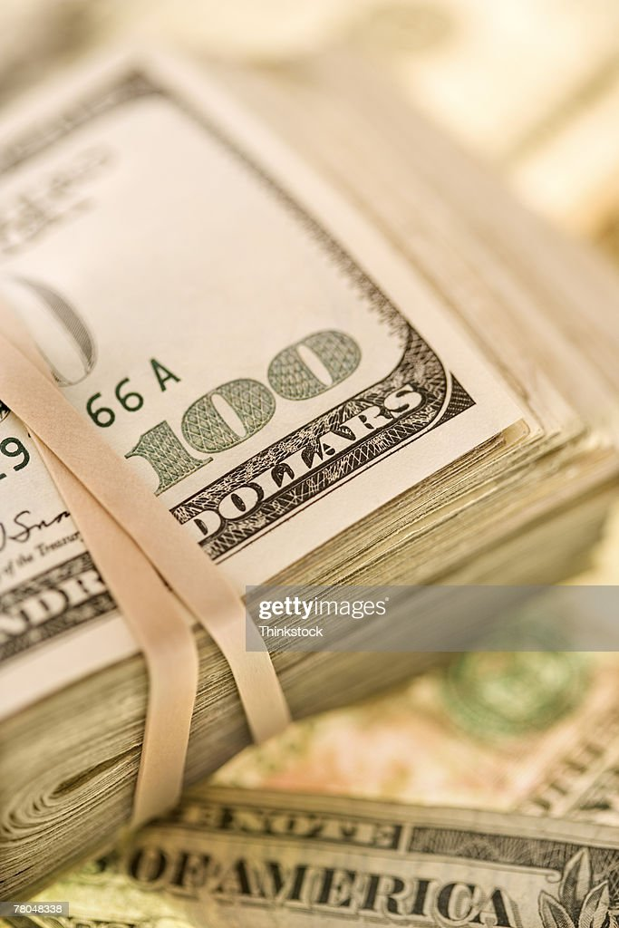 Wad of bills : Stock Photo