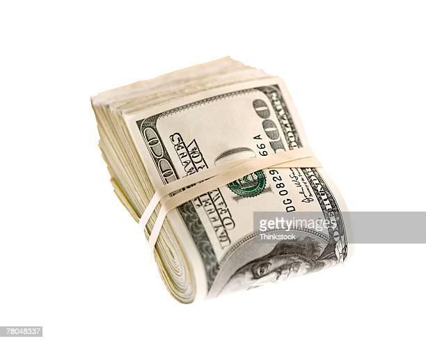 Wad of dollar bills