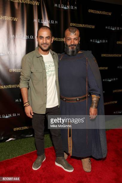 Waddah Swar and Eyad Hourani attend ComicCon International 2017 International SciFi Series 'Medinah' Premiere And Red Carpet Reception at The...