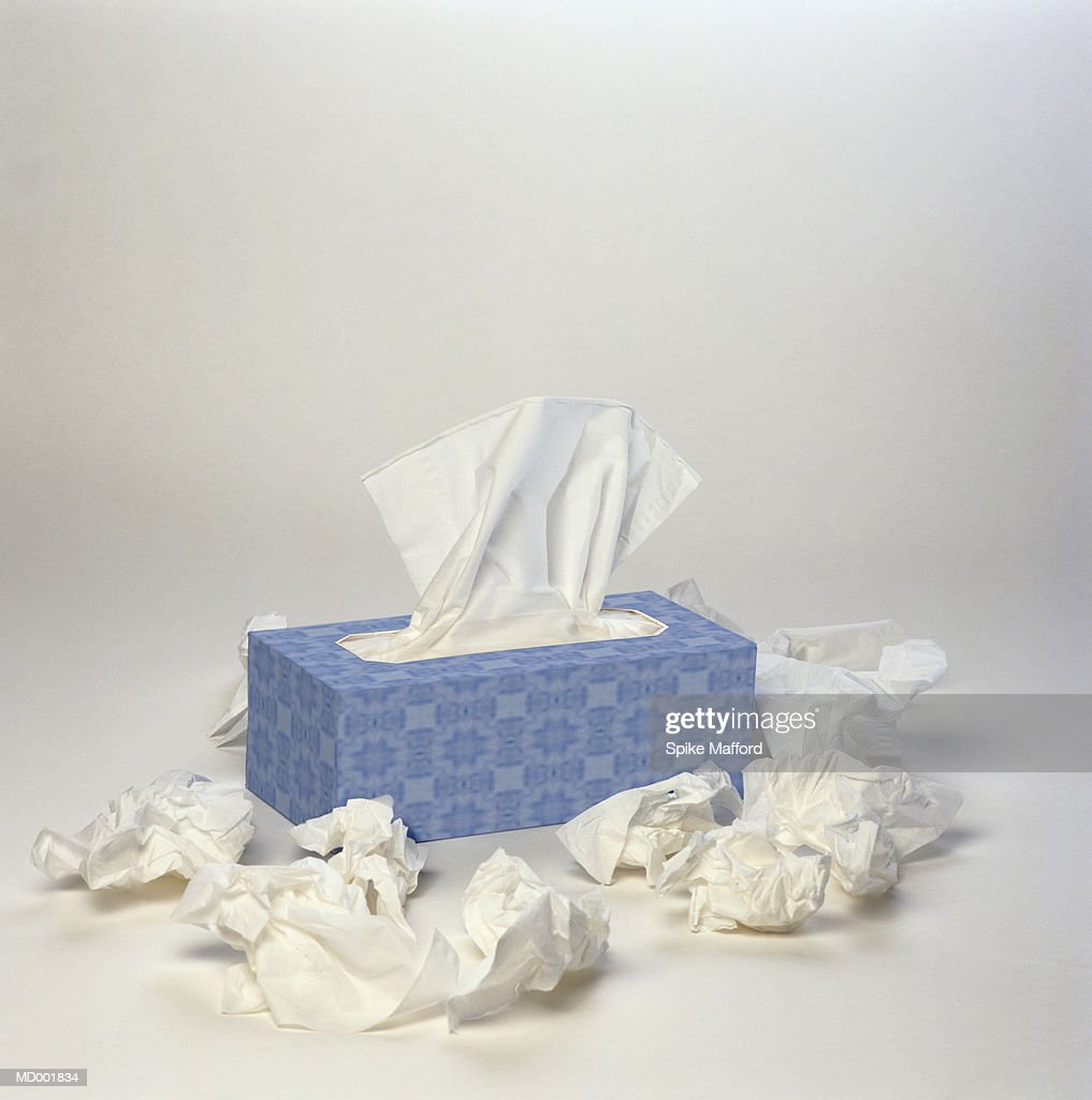 Wadded Tissues around Box : Foto de stock