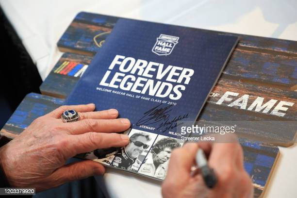 Waddell Wilson signs autographs during Fan Day at the NASCAR Hall of Fame on February 01 2020 in Charlotte North Carolina