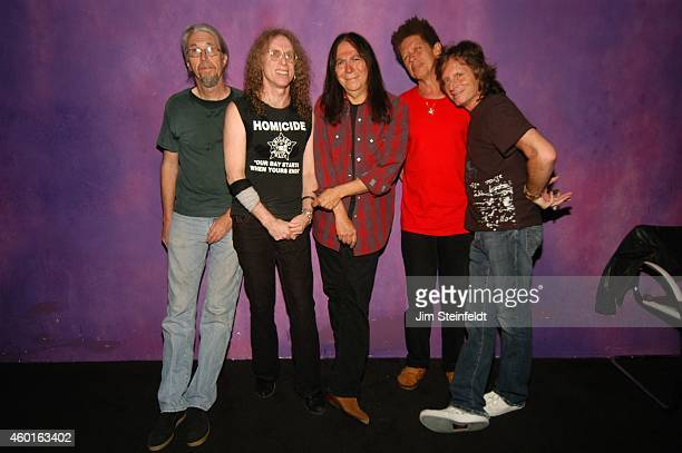 Waddy Wachtel band Phil Jones, Waddy Wachtel, Rick Rosas, Blondie Chaplin, and Brett Tuggle backstage at The Joint in Los Angeles, California on May...