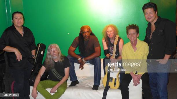 Waddy Wachtel band poses for a portrait at the Black Rose Tavern in Los Angeles, California on September 19, 2014.