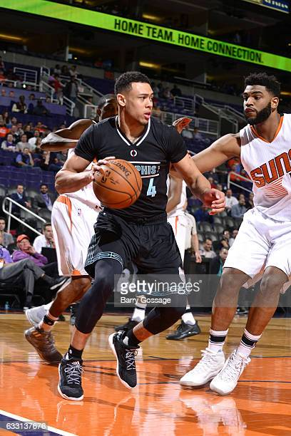 Wade Baldwin IV of the Memphis Grizzlies handles the ball during the game against the Phoenix Suns on January 30 2017 at US Airways Center in Phoenix...