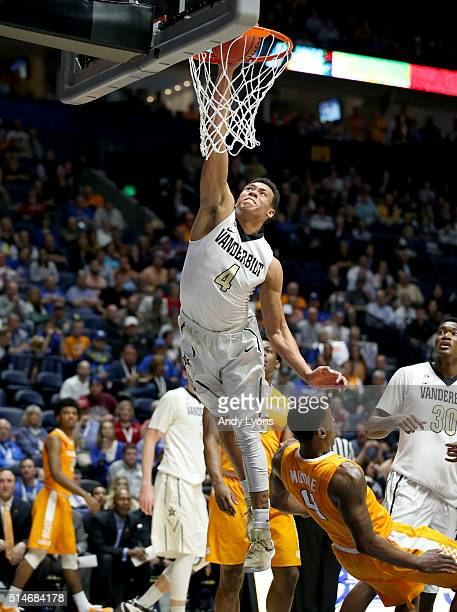 Wade Baldwin IV of the Vanderbilt Commodores shoots the ball against the Tennessee Volunteers during the second round of the SEC Basketball...