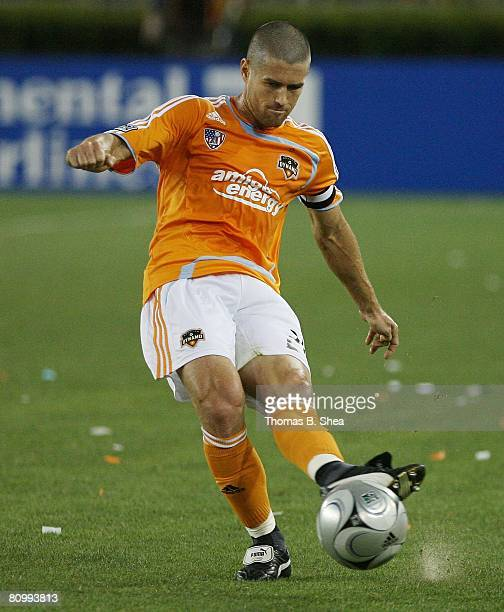 Wade Barrett of the Houston Dynamo against Chivas USA on May 3 2008 at Robertson Stadium in Houston Texas