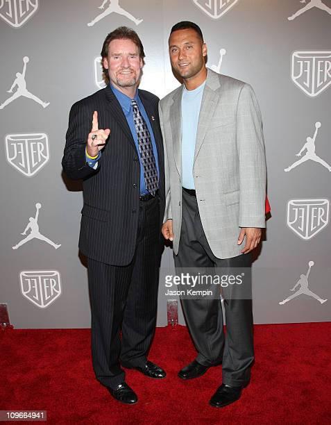 Wade Boggs and Derek Jeter celebrate Team Jordan athlete Derek Jeter during AllStar week at an exclusive party held at Marquee in New York City on...