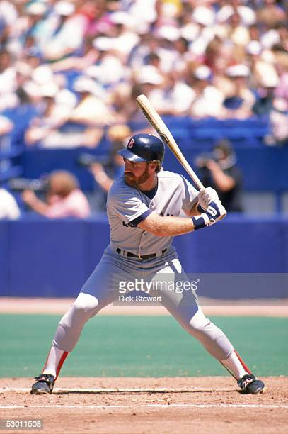 Wade Boggs of the Boston Red Sox bats during a game in the 1989 season against the Toronto Blue Jays at Skydome in Toronto Ontario Canada