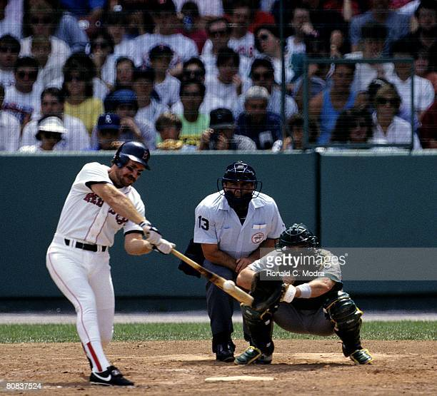 Wade Boggs of the Boston Red Sox bats during a MLB game against the Oakland Athletics on June 22 1991 in Chicago Illinois