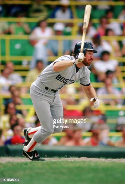 Wade Boggs of the Boston Red Sox bats during an MLB game versus the Chicago White Sox at Comiskey Park in Chicago Illinois during the 1987 season