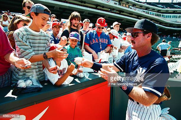 Wade Boggs of the New York Yankees during the 1995 All Star Weekend on July 10 1995 at The Ballpark at Arlington in Arlington Texas