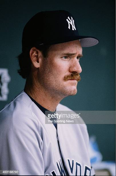 Wade Boggs of the New York Yankees looks on against the Baltimore Orioles during a game at Oriole Park at Camden Yards on July 11 1996 in Baltimore...