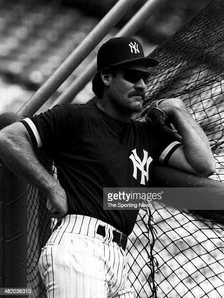 Wade Boggs of the New York Yankees looks on circa 1993