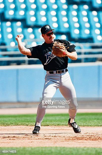 Wade Boggs of the Tampa Bay Devil Rays during the game against the Chicago White Sox on April 12 1998 at Comiskey Park in Chicago Illinois
