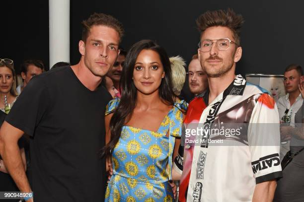Wade Briggs Roxie Nafousi and Henry Holland attend adidas 'Prouder' A Fat Tony Project in aid of the Albert Kennedy Trust supporting LGBT youth at...