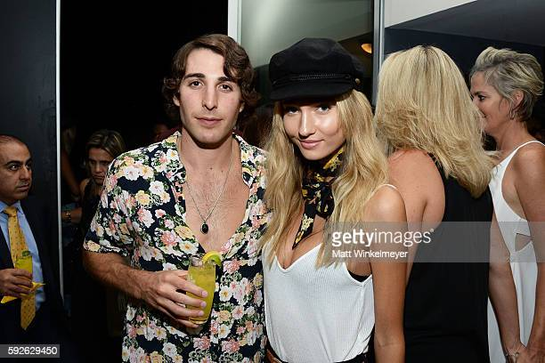 Wade Cavelli and Brianna Barnes attend ARYA Curcumin Presents The Yellow Social at Private Residence on August 20 2016 in Los Angeles California
