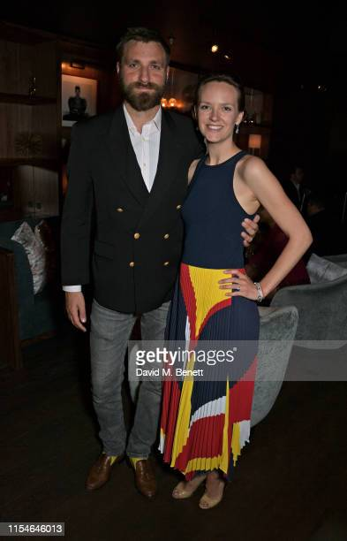 Wade Crescent and Charlotte Carroll attend Charlotte Carroll's surprise birthday party at Nolita Social on July 8, 2019 in London, England.