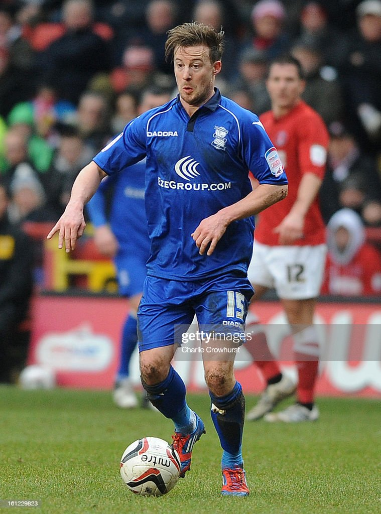 Wade Elliott of Birmingham attacks during the npower Championship match between Charlton Athletic and Birmingham City at The Valley on February 09, 2013 in London England.
