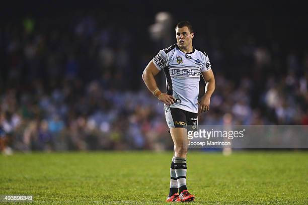 Wade Graham of the Sharks looks on during the round 11 NRL match between the Cronulla-Sutherland Sharks and the South Sydney Rabbitohs at Remondis...