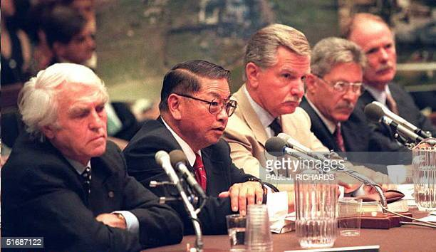 Wade Ishimoto of Sandia National Laboratories testifies 20 July during congressional hearings in Washington DC into the 1993 raid against the Branch...