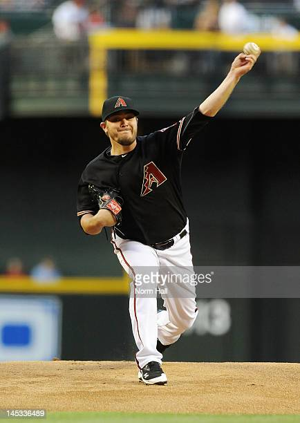 Wade Miley of the Arizona Diamondbacks delivers a pitch against the Milwaukee Brewers at Chase Field on May 26 2012 in Phoenix Arizona