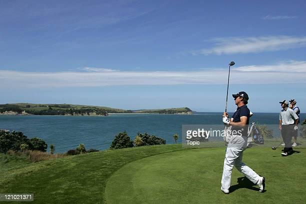 Wade Ormsby during the Bluechip New Zealand Open final round at Gulf Harbour in Auckland New Zealand on December 3 2006
