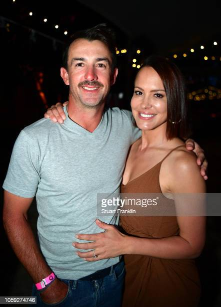 Wade Ormsby of Australia and friend at the beach party after the first round of the Nedbank Golf Challenge at Gary Player CC on November 8 2018 in...