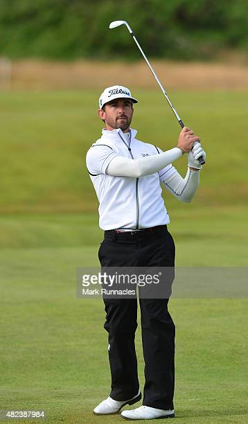 Wade Ormsby of Australia in action during the first day of the Saltire Energy Paul Lawrie Matchplay at Murcar Links Golf Club on July 30 2015 in...