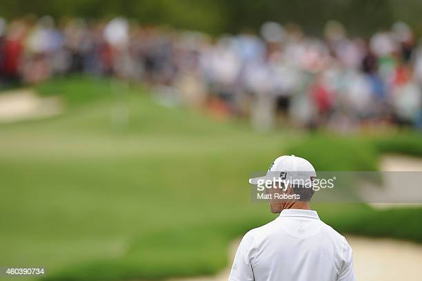 Wade Ormsby of Australia looks on on the 8th hole during day three of the 2014 Australian PGA Championship at Royal Pines Resort on December 13 2014...