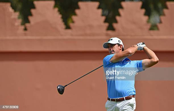 Wade Ormsby of Australia plays a shot during the final round of the Trophee Hassan II Golf at Golf du Palais Royal on March 16 2014 in Agadir Morocco
