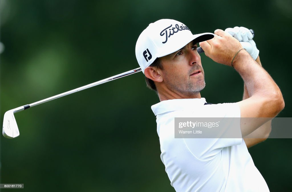 Wade Ormsby of Australia tees off on the 12th hole during the second round of the BMW International Open at Golfclub Munchen Eichenried on June 23, 2017 in Munich, Germany.
