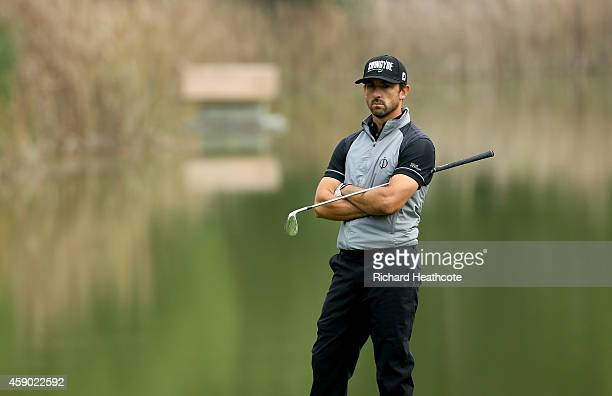 Wade Ormsby of Australia waits to play on the 9th during the third round of the 2014 Turkish Airlines Open at The Montgomerie Maxx Royal on November...