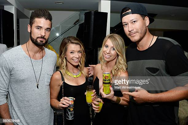 Wade Poezin Kerrya Corcoran Trisha Byer and Freedom Wynn attend ARYA Curcumin Presents The Yellow Social at Private Residence on August 20 2016 in...